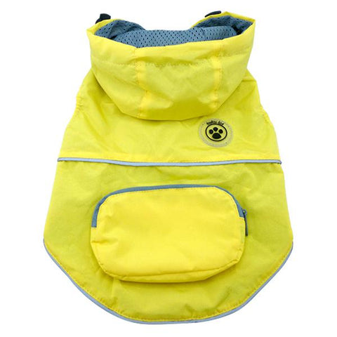 FouFouDog Rainy Day Dog Poncho with Built-in Travel Pouch - Yellow-foufou Dog-High Society Canine