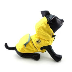 FouFouDog Rainy Day Dog Poncho with Built-in Travel Pouch - Yellow - Coat - FouFou Dog - High Society Canine LLC - 2