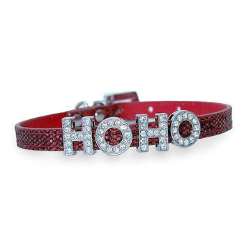 Foxy Glitz Slide Dog Collar by Cha-Cha Couture - Red-Cha-Cha Couture-High Society Canine