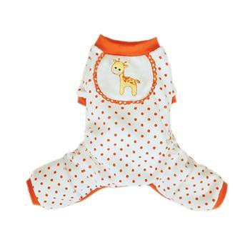 Giraffe Dog Pajamas - Orange-Pooch Outfitters-High Society Canine