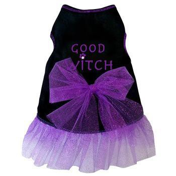 Good Witch Tank Dog Dress - Black-I See Spot-High Society Canine
