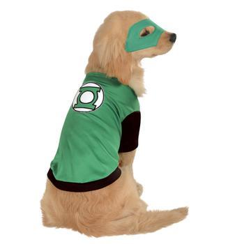 DC Green Lantern Dog Costume-Marvel,Rubies Costumes-High Society Canine