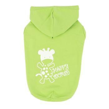 Happy World Hooded Dog Shirt by Puppia - Lime-Puppia-High Society Canine