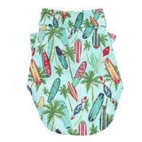 Hawaiian Camp Shirt by Doggie Design - Surfboards and Palms-Doggie Design-High Society Canine