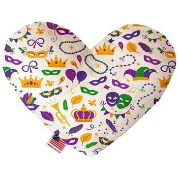 Heart Dog Toy - Mardi Gras Masks-Mirage-High Society Canine