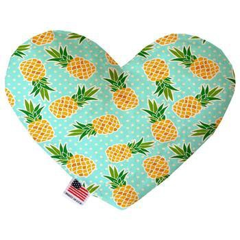 Heart Dog Toy - Pineapples and Polka Dots-Mirage-High Society Canine