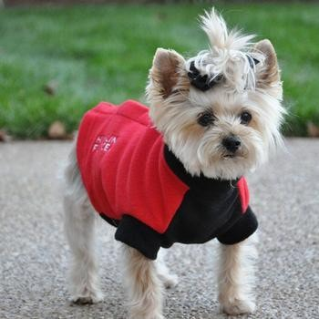 Highline Fleece Dog Coat by Doggie Design - Red and Black-Doggie Design-High Society Canine