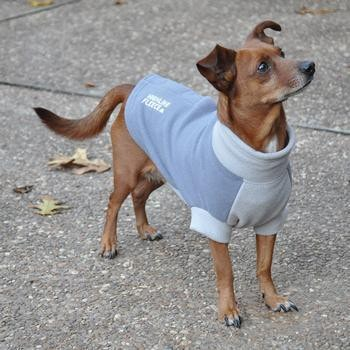Highline Fleece Dog Coat by Doggie Design - Two Tone Gray-Doggie Design-High Society Canine