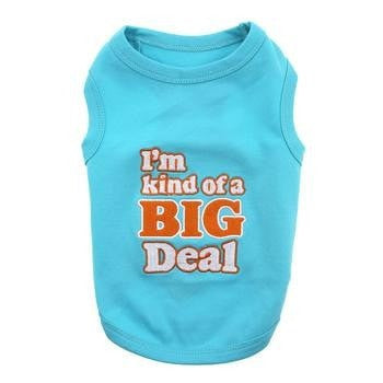 Im Kind of a Big Deal Dog Tank by Parisian Pet - Blue