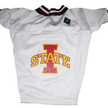 Iowa State Cyclones Dog Jersey - White-Hunter Manufacturing,NCAA Dogs-High Society Canine