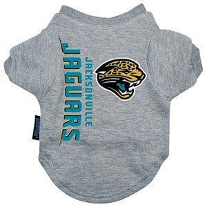 Jacksonville Jaguars Dog T-Shirt-Hunter Manufacturing,NFL Dogs-High Society Canine