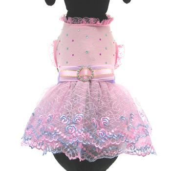 Kaelyn Party Dog Dress - Pink-Pooch Outfitters-High Society Canine
