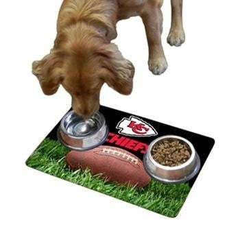 Kansas City Chiefs Pet Bowl Mat-NFL Dogs-High Society Canine