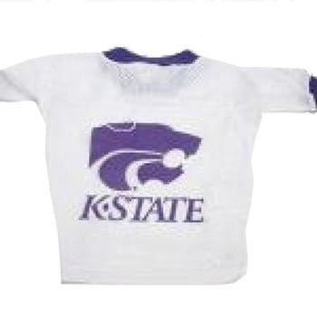 Kansas State Wildcats Dog Jersey - White-Hunter Manufacturing,NCAA Dogs-High Society Canine