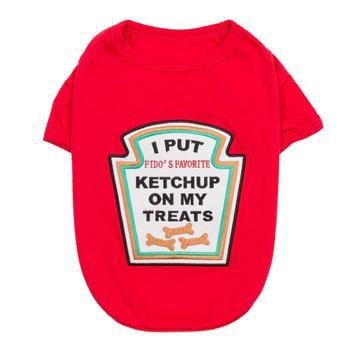 Ketchup Licker Dog Costume Shirt-Parisian Pet-High Society Canine