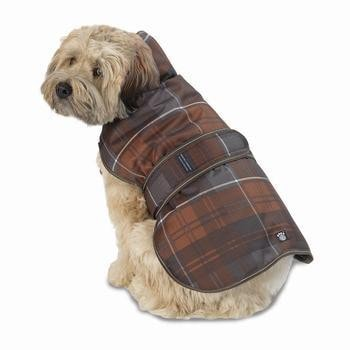 Kodiak Dog Coat - Bronze Plaid-PetRageous-High Society Canine