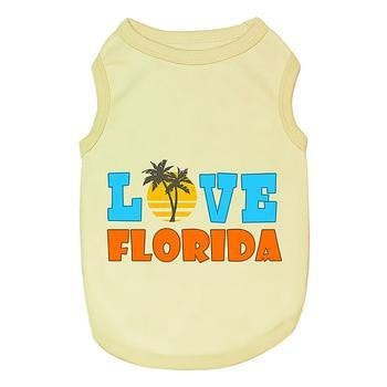 Love Florida Dog Tank-Parisian Pet-High Society Canine