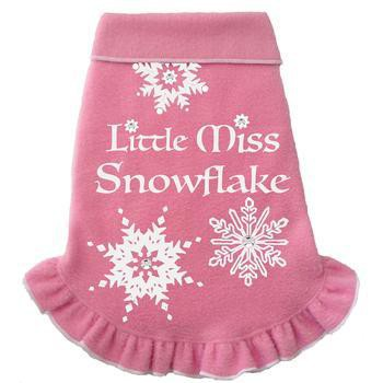 Little Miss Snowflake Fleece Dog Pullover - Pink-I See Spot-High Society Canine