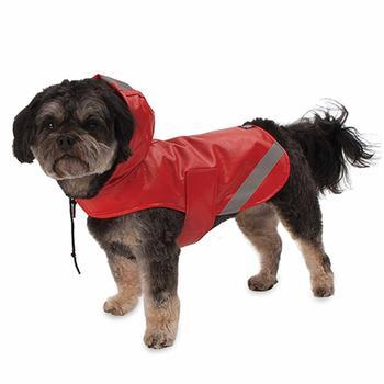 London Dog Rain Slicker - Red-PetRageous-High Society Canine