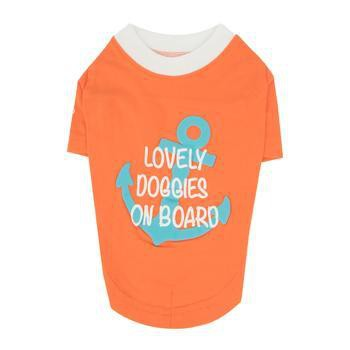Lovely Doggie Dog Shirt by Puppia - Orange-Puppia-High Society Canine
