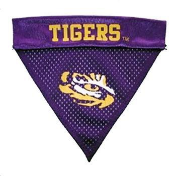 LSU Tigers Dog Bandana Collar Slider-NCAA Dogs-High Society Canine