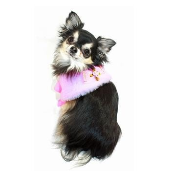 Luxurious Fur Dog Cape by Hip Doggie - Pink
