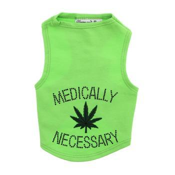 Medically Necessary Dog Tank by Daisy and Lucy - Lime Green-Daisy and Lucy-High Society Canine