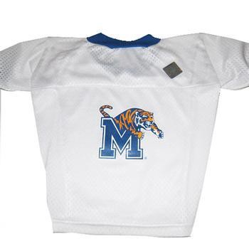 Memphis Tigers Dog Jersey - White-Hunter Manufacturing,NCAA Dogs-High Society Canine