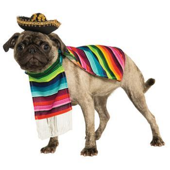 Mexican Sarape Dog Costume-Rubies Costumes-High Society Canine
