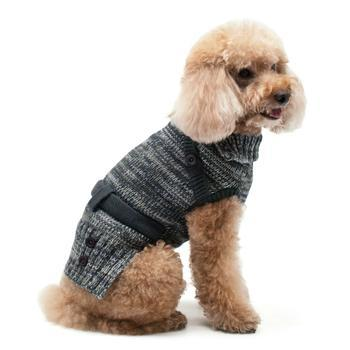 Multiway Turtle Neck Dog Sweater by Dogo - Black-DOGO-High Society Canine