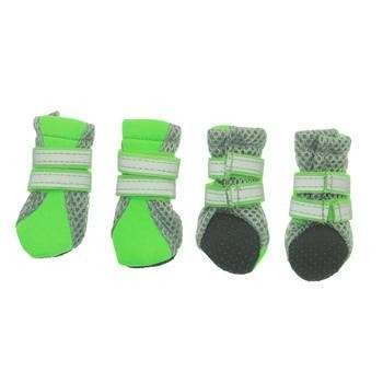 Neon Neoprene Dog Boots - Green-Parisian Pet-High Society Canine