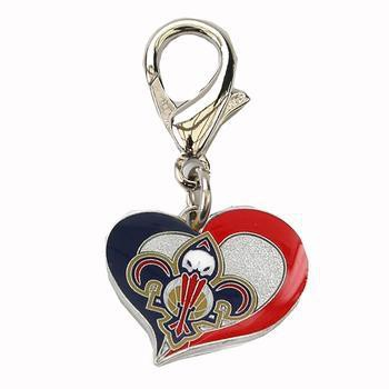 New Orleans Pelicans Swirl Heart Dog Collar Charm-Diva Dog,NBA Dogs-High Society Canine