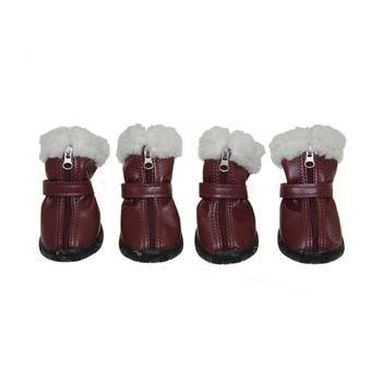 Pathfinder Dog Boots by Puppia - Wine-Puppia-High Society Canine