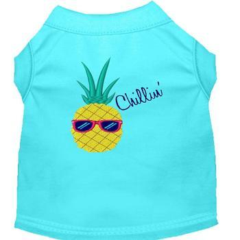 Pineapple Chillin Embroidered Dog Shirt - Aqua-Mirage-High Society Canine