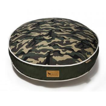 P.L.A.Y. Camoflauge Round Dog Bed - Green-P.L.A.Y.-High Society Canine