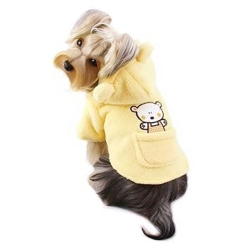 Plush Country Bear Hooded Dog Jacket by Klippo