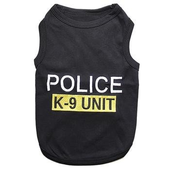Police K9 Unit Dog Tank - Black-Parisian Pet-High Society Canine