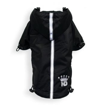 Puppagonia Crown Dog Rain Parka by Hip Doggie - Black-Hip Doggie-High Society Canine