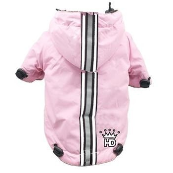 Puppagonia Crown Dog Rain Parka by Hip Doggie - Pink-Hip Doggie-High Society Canine