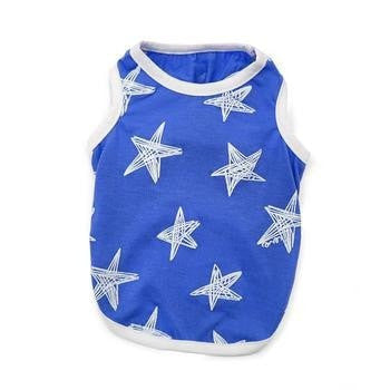 PuppyPAWer Starry Dog Tank Top by Dogo - Blue-DOGO-High Society Canine