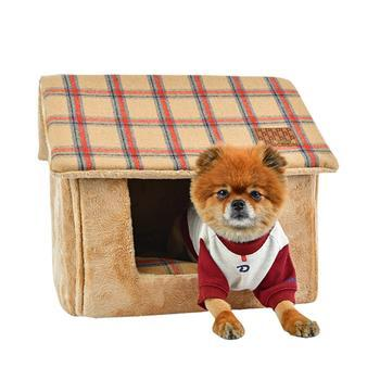 Quincy House Dog Bed By Puppia - Beige-Puppia-High Society Canine