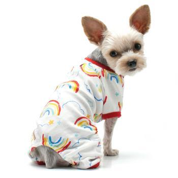 Rainbow Dog Pajamas by Dogo - Red-DOGO-High Society Canine