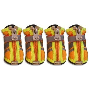 Reflector Dog Boots - Orange-Doggy Style Design-High Society Canine
