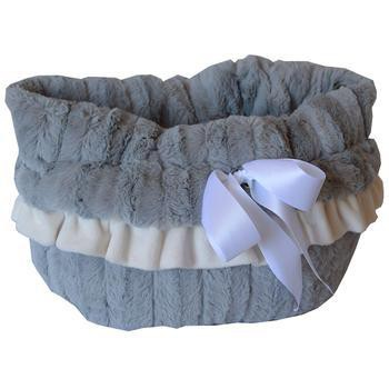 Reversible Snuggle Bugs Pet Bed, Bag, and Car Seat - Gray-Mirage,Pet Flys-High Society Canine