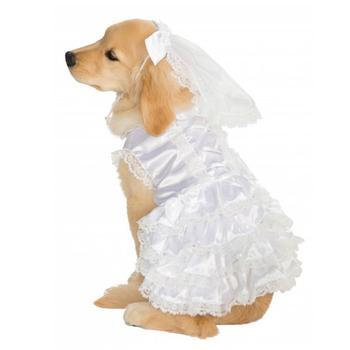 Rubies Bride Dog Costume-Rubies Costumes-High Society Canine