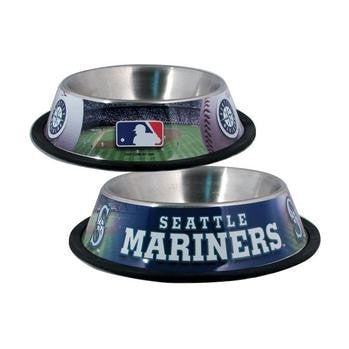 Seattle Mariners Dog Bowl-MLB Dogs-High Society Canine