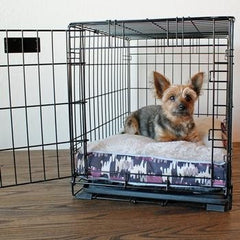 Soft N Tuff Rectangular Pet Crate Bed - Purple Camo