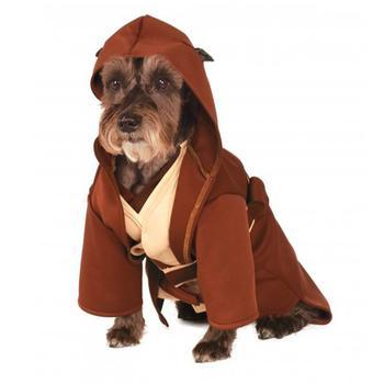 Star Wars Jedi Robe Dog Costume-Rubies Costumes-High Society Canine