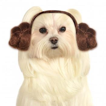 Star Wars Princess Leia Dog Halloween Costume-Rubies Costumes-High Society Canine
