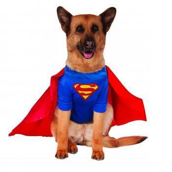 Superman Dog Halloween Costume-Rubies Costumes-High Society Canine